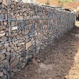 Construção de Muro Gabião